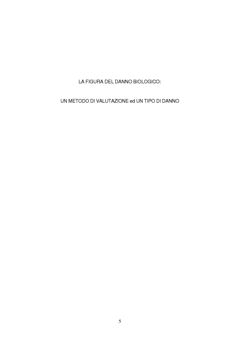 Anteprima della tesi: La risarcibilità del danno biologico da morte, Pagina 4