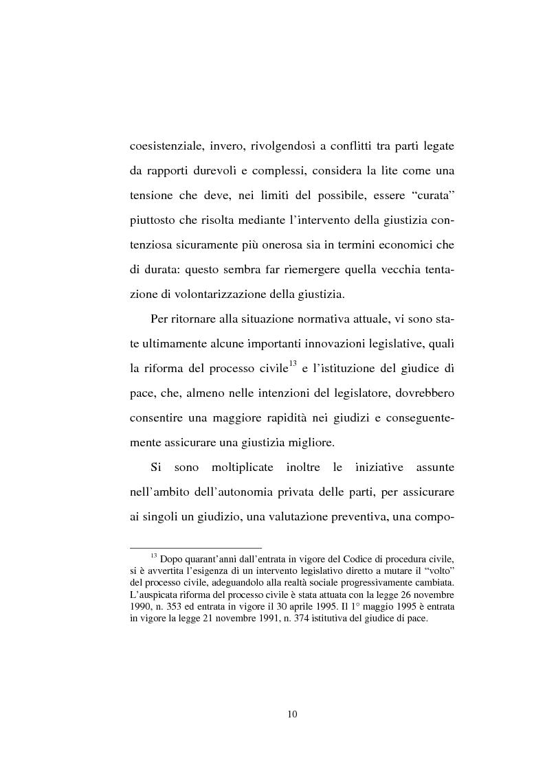 Anteprima della tesi: Tentativo di conciliazione obbligatorio ''ante causam'', Pagina 10