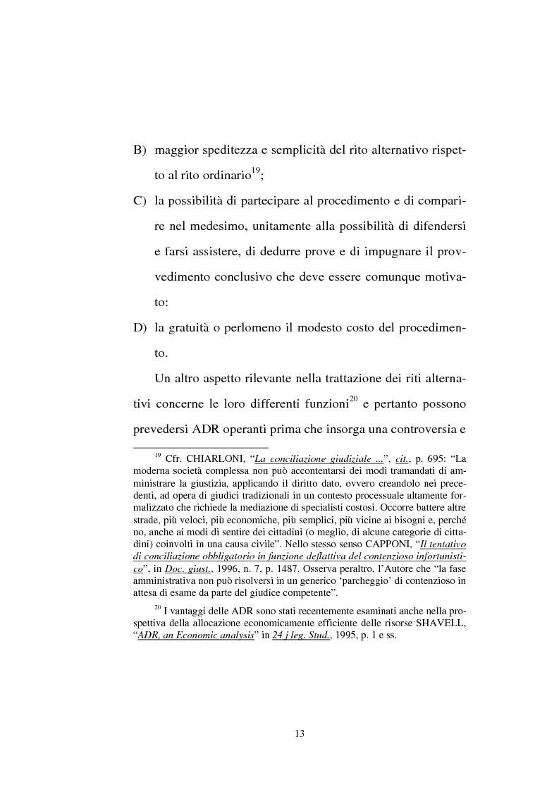 Anteprima della tesi: Tentativo di conciliazione obbligatorio ''ante causam'', Pagina 13