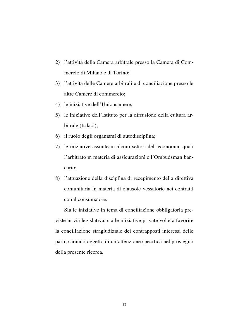 Anteprima della tesi: Tentativo di conciliazione obbligatorio ''ante causam'', Pagina 17