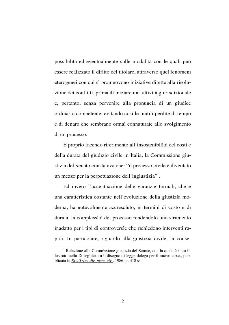 Anteprima della tesi: Tentativo di conciliazione obbligatorio ''ante causam'', Pagina 2