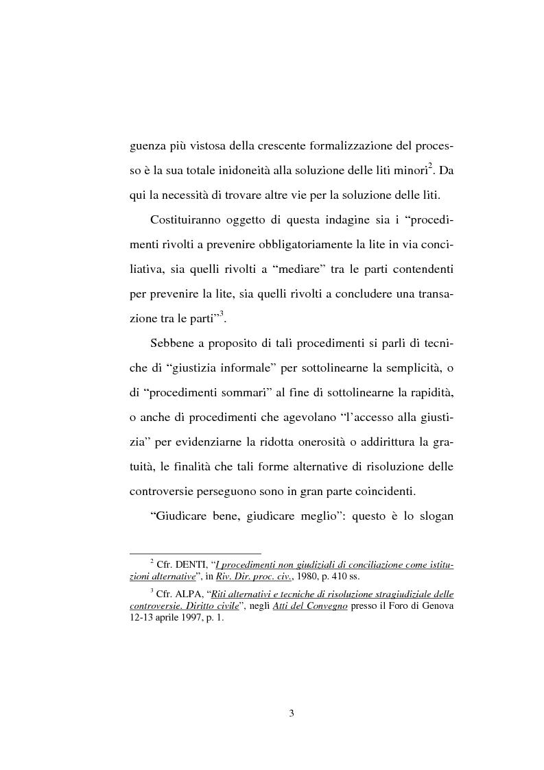Anteprima della tesi: Tentativo di conciliazione obbligatorio ''ante causam'', Pagina 3