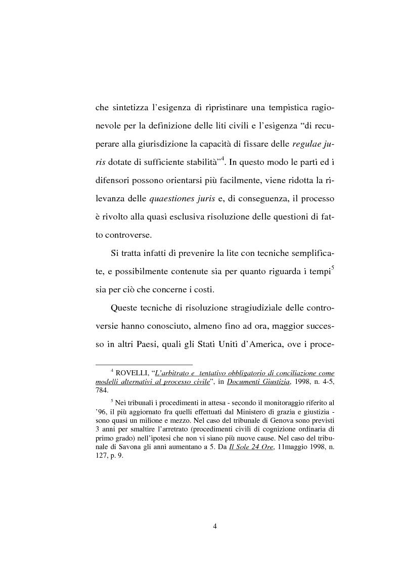 Anteprima della tesi: Tentativo di conciliazione obbligatorio ''ante causam'', Pagina 4