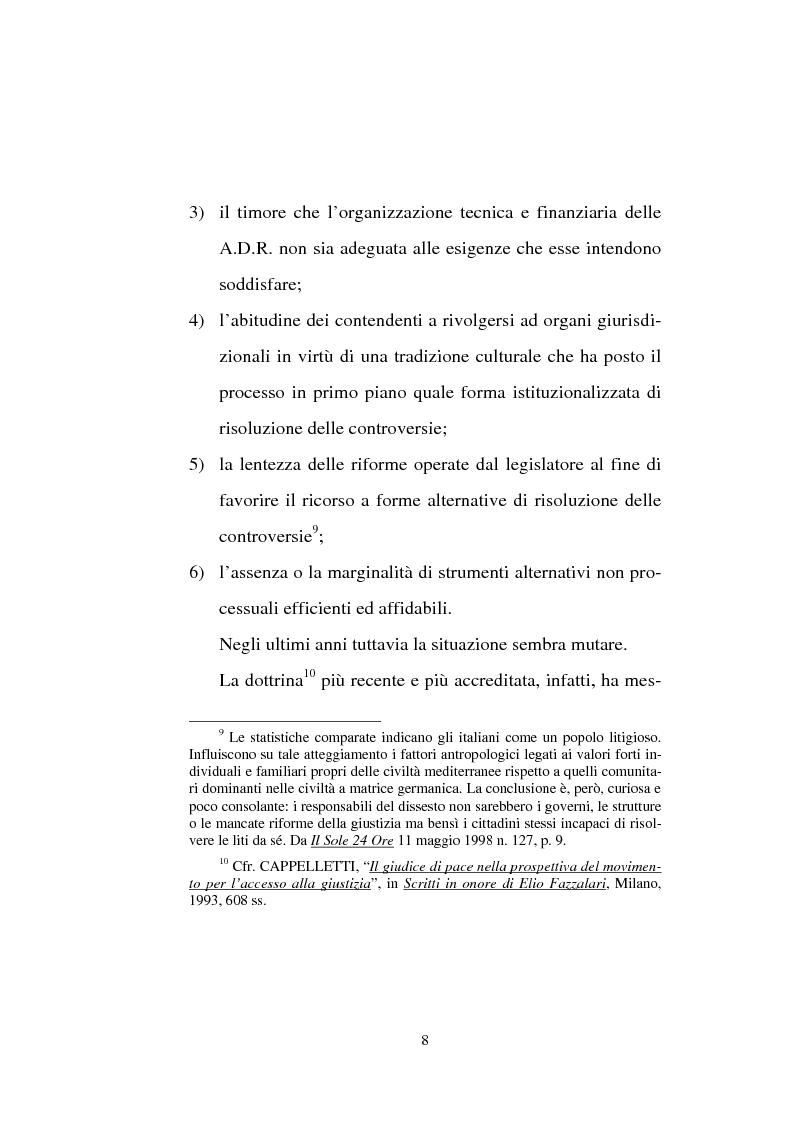 Anteprima della tesi: Tentativo di conciliazione obbligatorio ''ante causam'', Pagina 8