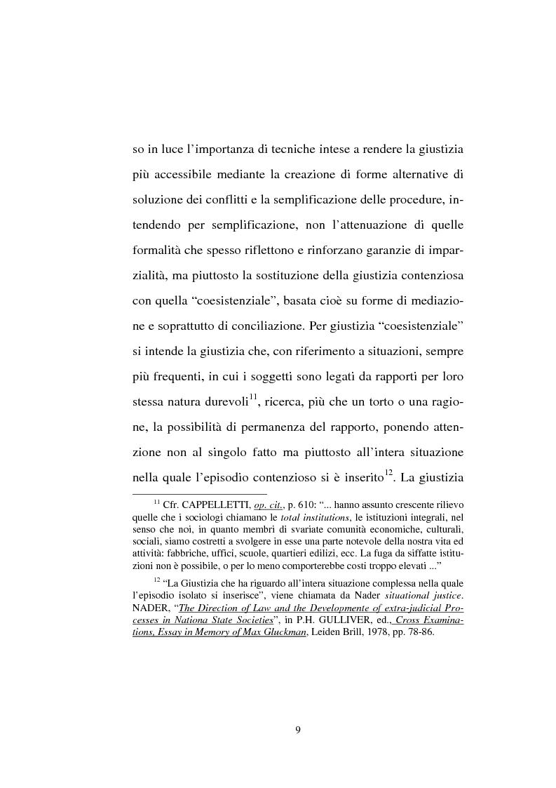 Anteprima della tesi: Tentativo di conciliazione obbligatorio ''ante causam'', Pagina 9