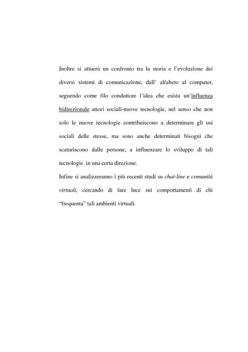 Anteprima della tesi: Dalle lettere agli sms: una ricerca sui modi di comunicazione giovanili, Pagina 13