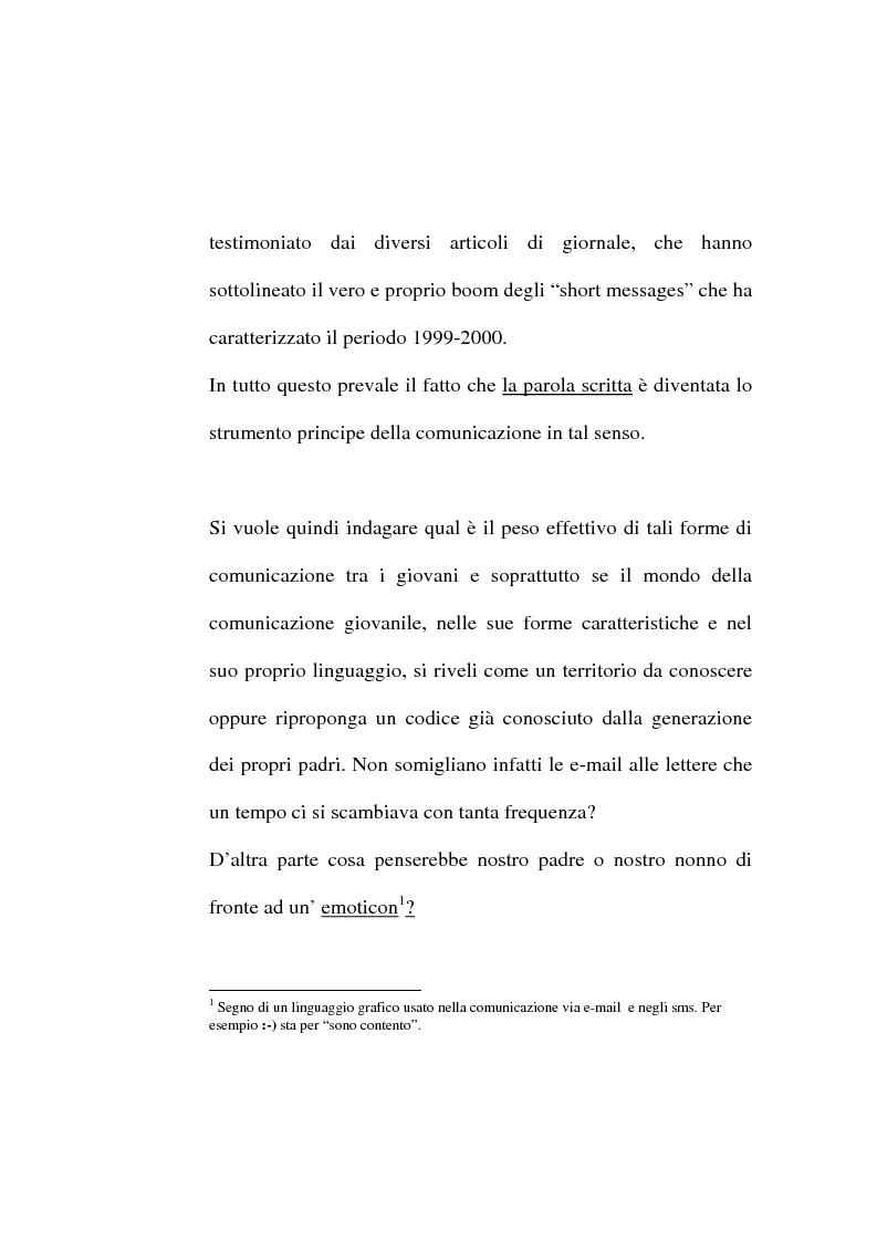 Anteprima della tesi: Dalle lettere agli sms: una ricerca sui modi di comunicazione giovanili, Pagina 2