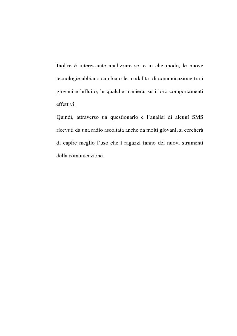 Anteprima della tesi: Dalle lettere agli sms: una ricerca sui modi di comunicazione giovanili, Pagina 3