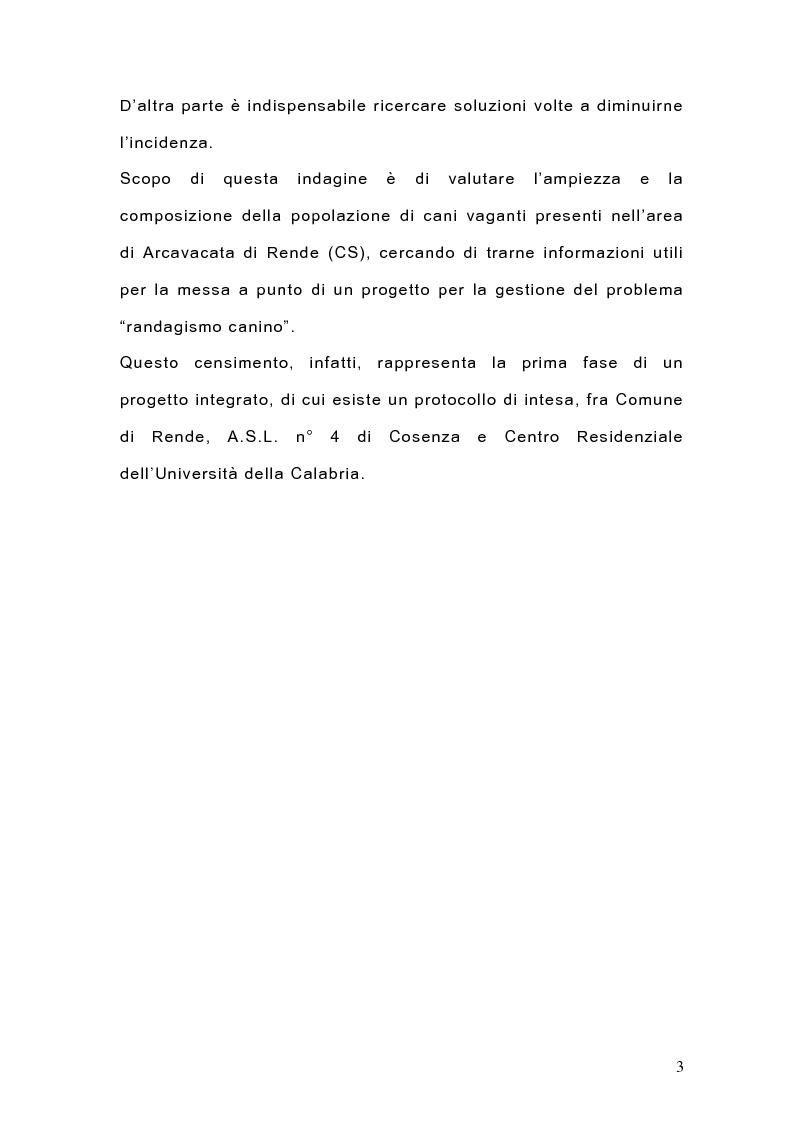 Anteprima della tesi: Indagine sulla popolazione canina nell'area di Arcavacata di Rende (CS), Pagina 3