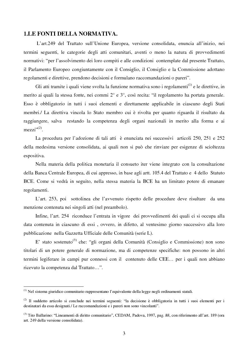 Anteprima della tesi: La disciplina comunitaria dell'intermediazione finanziaria, Pagina 1