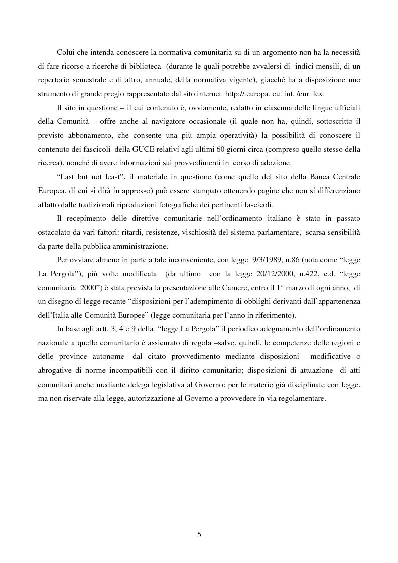 Anteprima della tesi: La disciplina comunitaria dell'intermediazione finanziaria, Pagina 3