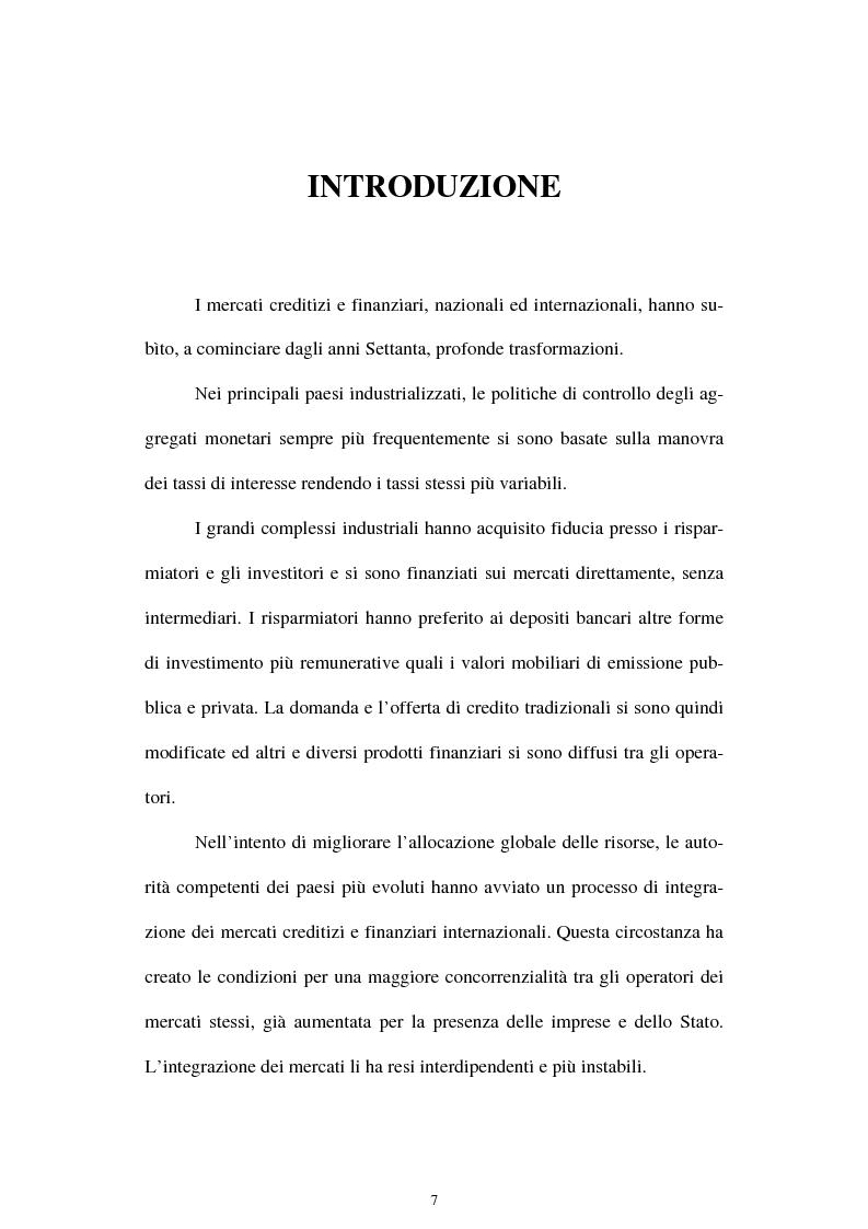 Anteprima della tesi: Il rischio di interesse e gli strumenti per un suo controllo, Pagina 1