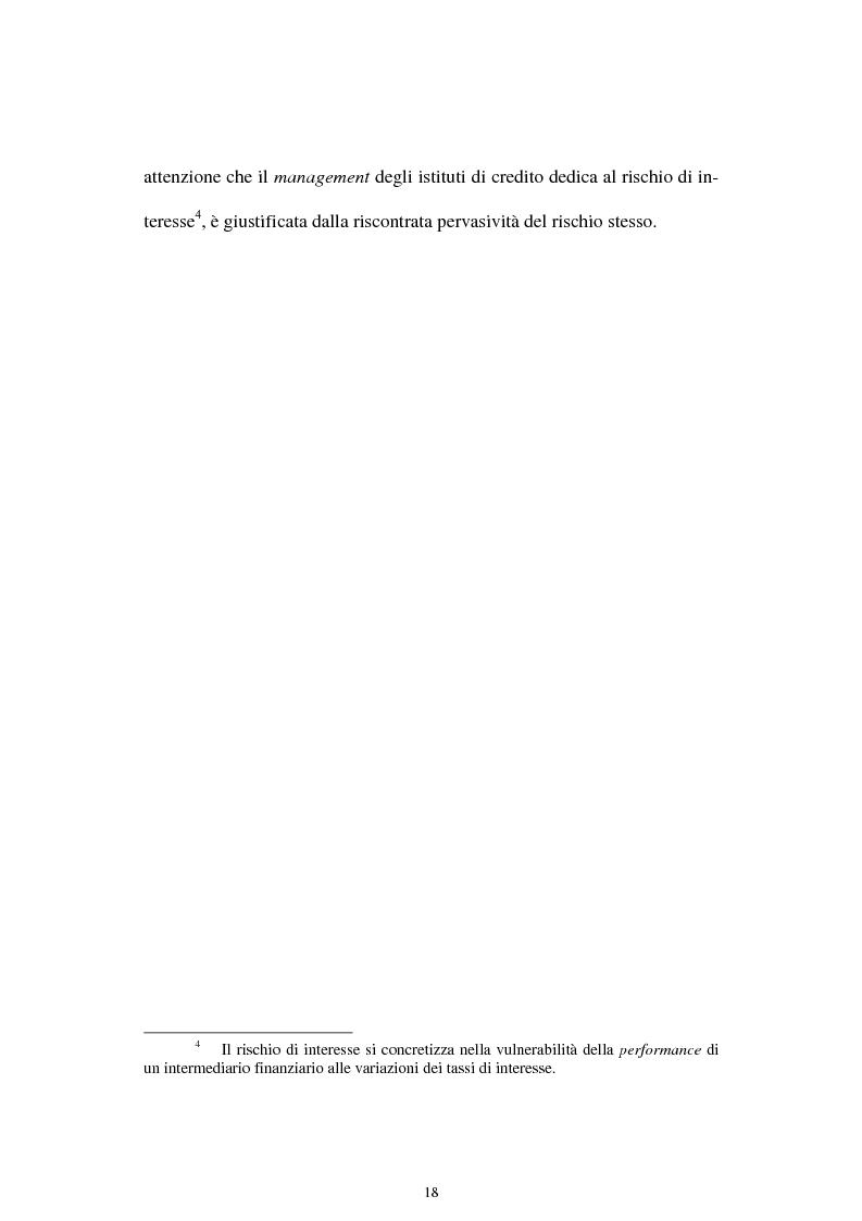 Anteprima della tesi: Il rischio di interesse e gli strumenti per un suo controllo, Pagina 11