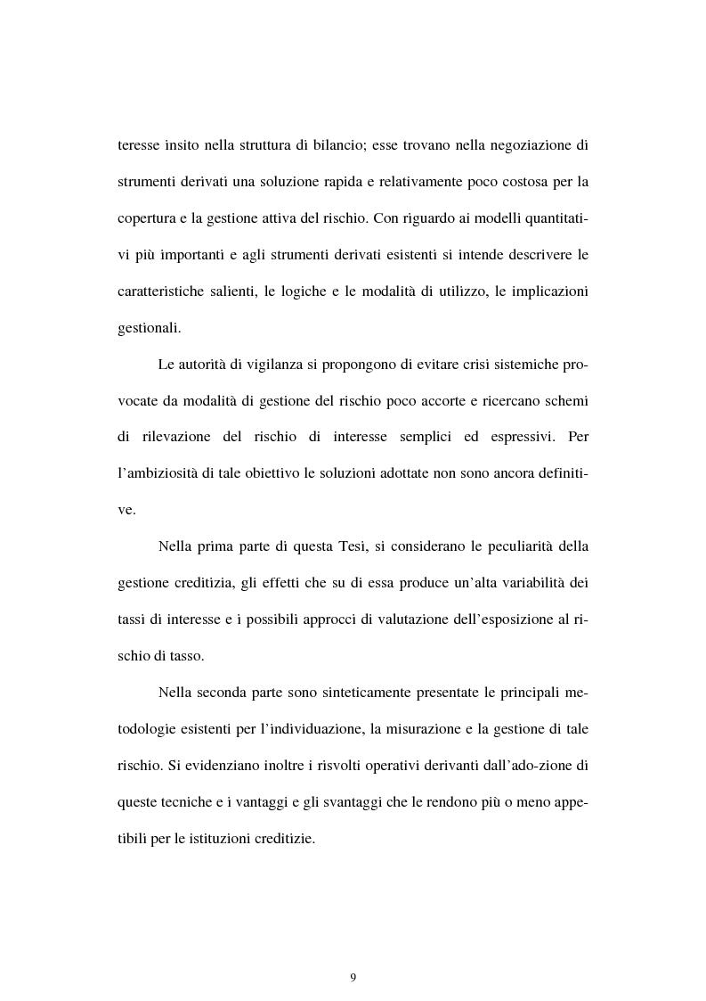 Anteprima della tesi: Il rischio di interesse e gli strumenti per un suo controllo, Pagina 3