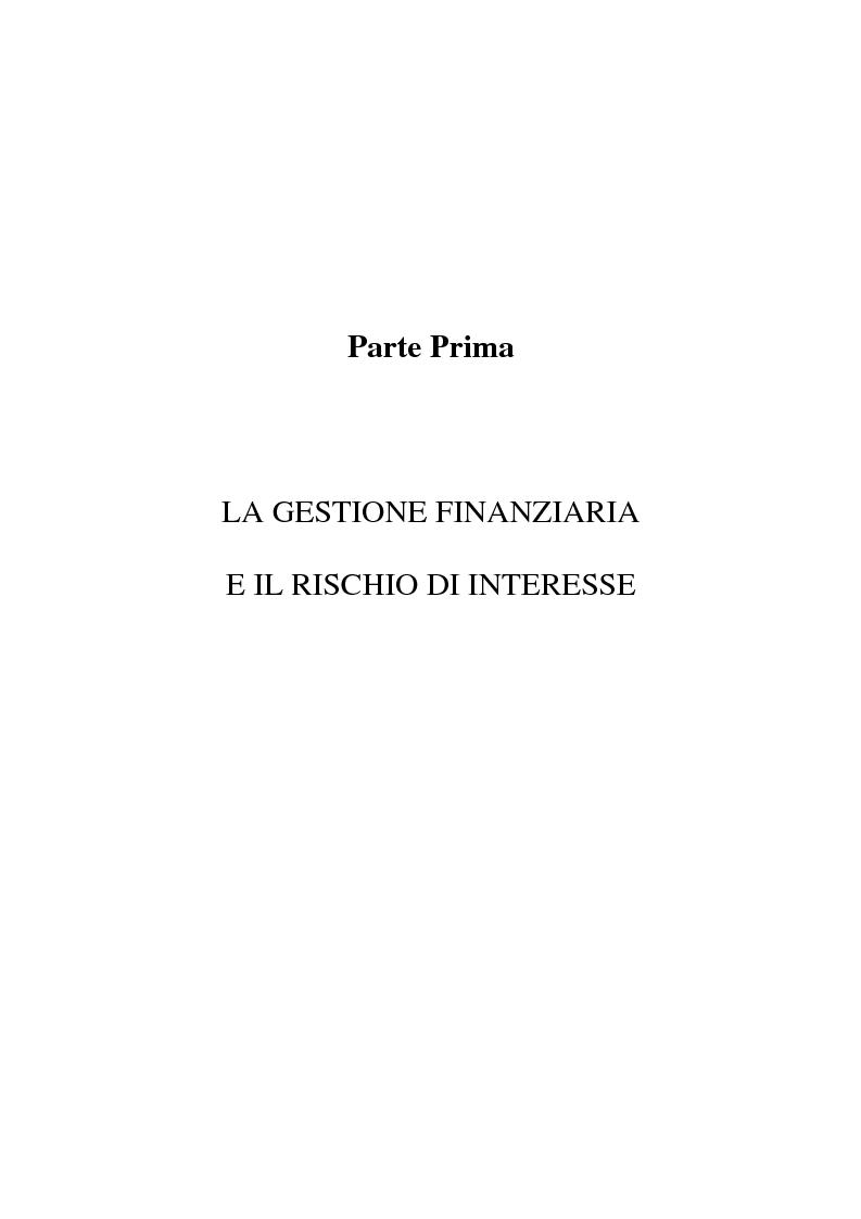 Anteprima della tesi: Il rischio di interesse e gli strumenti per un suo controllo, Pagina 5