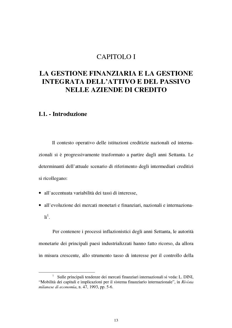 Anteprima della tesi: Il rischio di interesse e gli strumenti per un suo controllo, Pagina 6