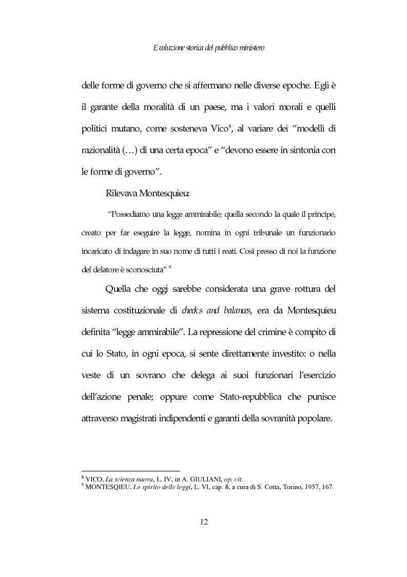 Anteprima della tesi: Profili costituzionali del Pubblico Ministero, Pagina 12