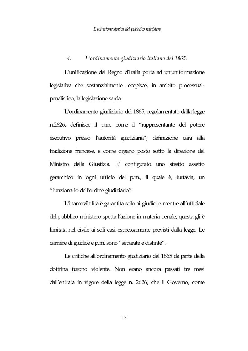 Anteprima della tesi: Profili costituzionali del Pubblico Ministero, Pagina 13