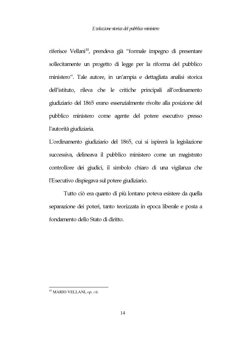 Anteprima della tesi: Profili costituzionali del Pubblico Ministero, Pagina 14