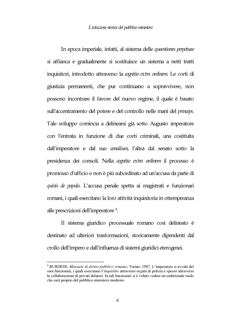 Anteprima della tesi: Profili costituzionali del Pubblico Ministero, Pagina 6
