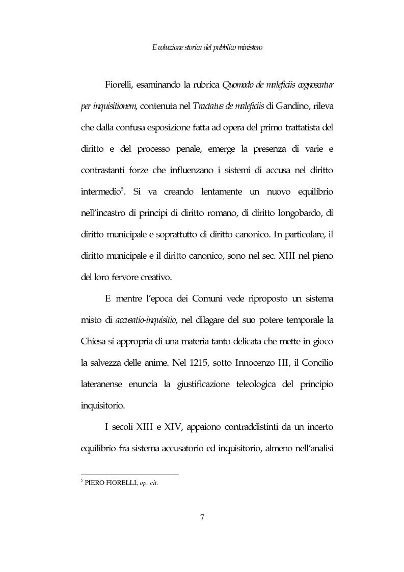 Anteprima della tesi: Profili costituzionali del Pubblico Ministero, Pagina 7