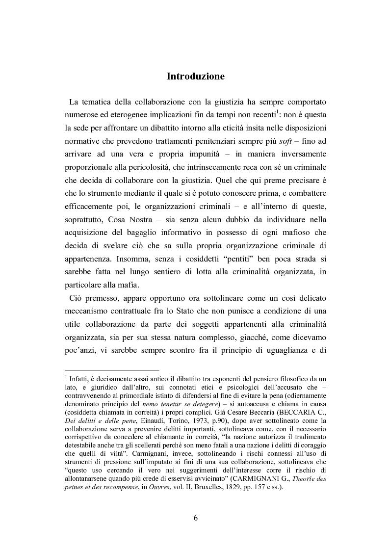 Anteprima della tesi: Esecuzione penitenziaria e collaboratori di giustizia, Pagina 1