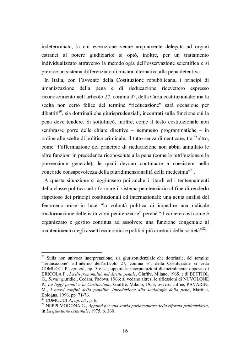 Anteprima della tesi: Esecuzione penitenziaria e collaboratori di giustizia, Pagina 11