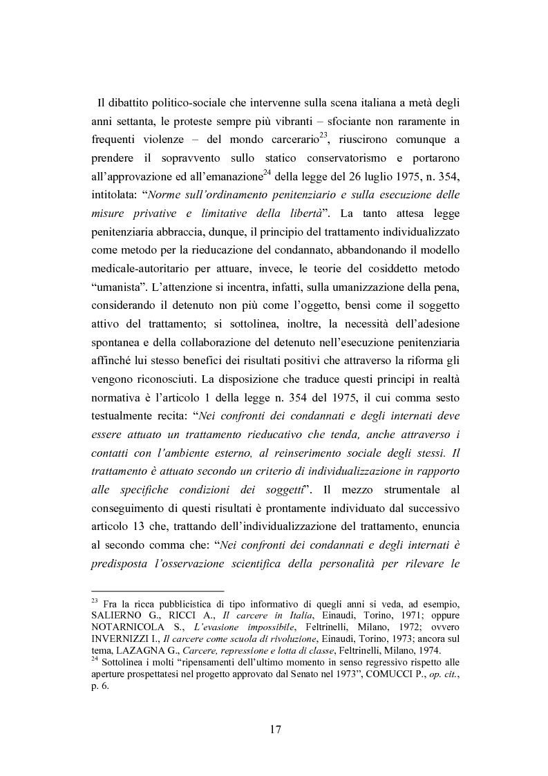 Anteprima della tesi: Esecuzione penitenziaria e collaboratori di giustizia, Pagina 12