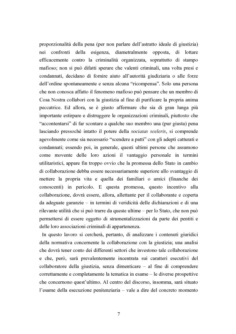Anteprima della tesi: Esecuzione penitenziaria e collaboratori di giustizia, Pagina 2