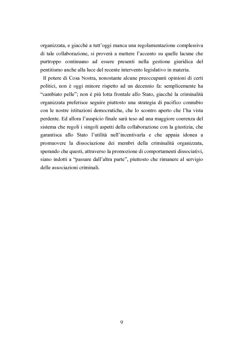 Anteprima della tesi: Esecuzione penitenziaria e collaboratori di giustizia, Pagina 4