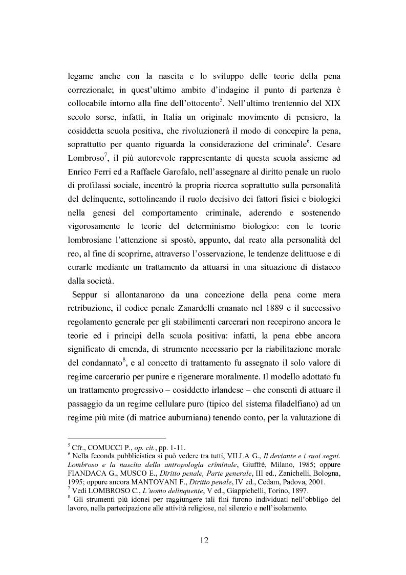 Anteprima della tesi: Esecuzione penitenziaria e collaboratori di giustizia, Pagina 7