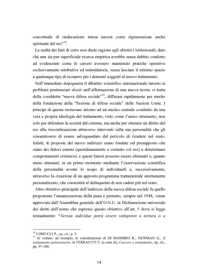 Anteprima della tesi: Esecuzione penitenziaria e collaboratori di giustizia, Pagina 9