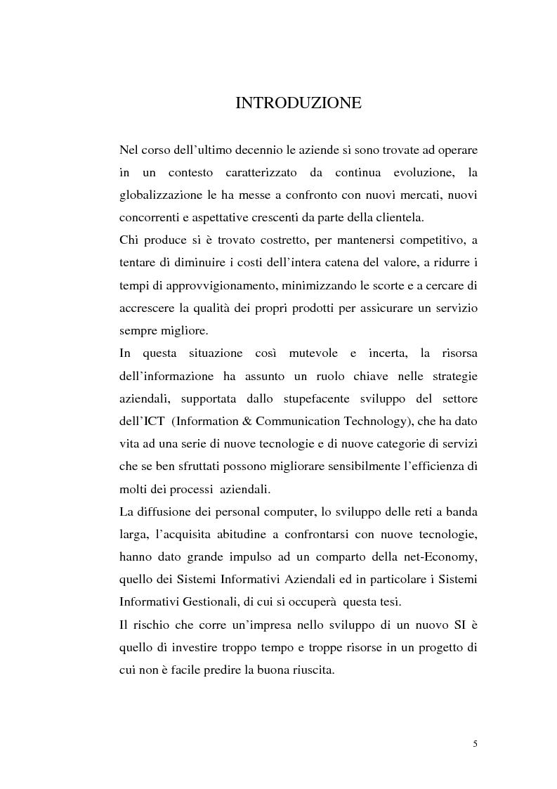 Anteprima della tesi: Sistemi Erp e modalità Asp: quando una Pmi ricorre a strumenti di governo da grande impresa, Pagina 1