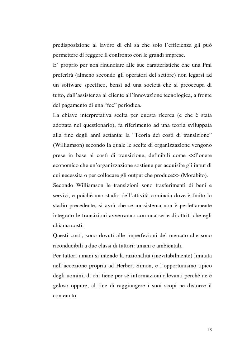 Anteprima della tesi: Sistemi Erp e modalità Asp: quando una Pmi ricorre a strumenti di governo da grande impresa, Pagina 11