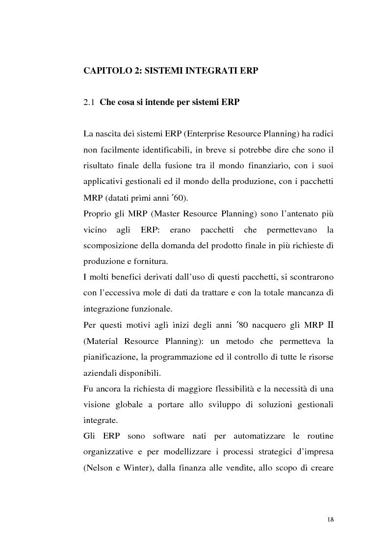 Anteprima della tesi: Sistemi Erp e modalità Asp: quando una Pmi ricorre a strumenti di governo da grande impresa, Pagina 14