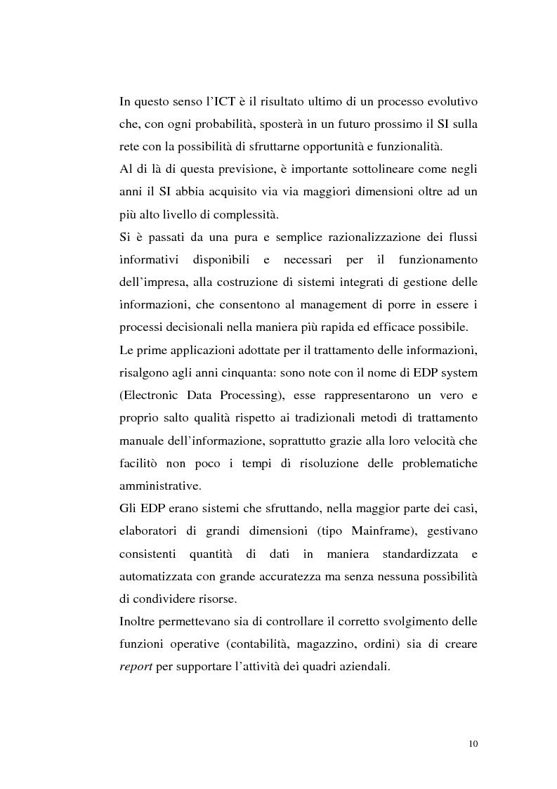 Anteprima della tesi: Sistemi Erp e modalità Asp: quando una Pmi ricorre a strumenti di governo da grande impresa, Pagina 6