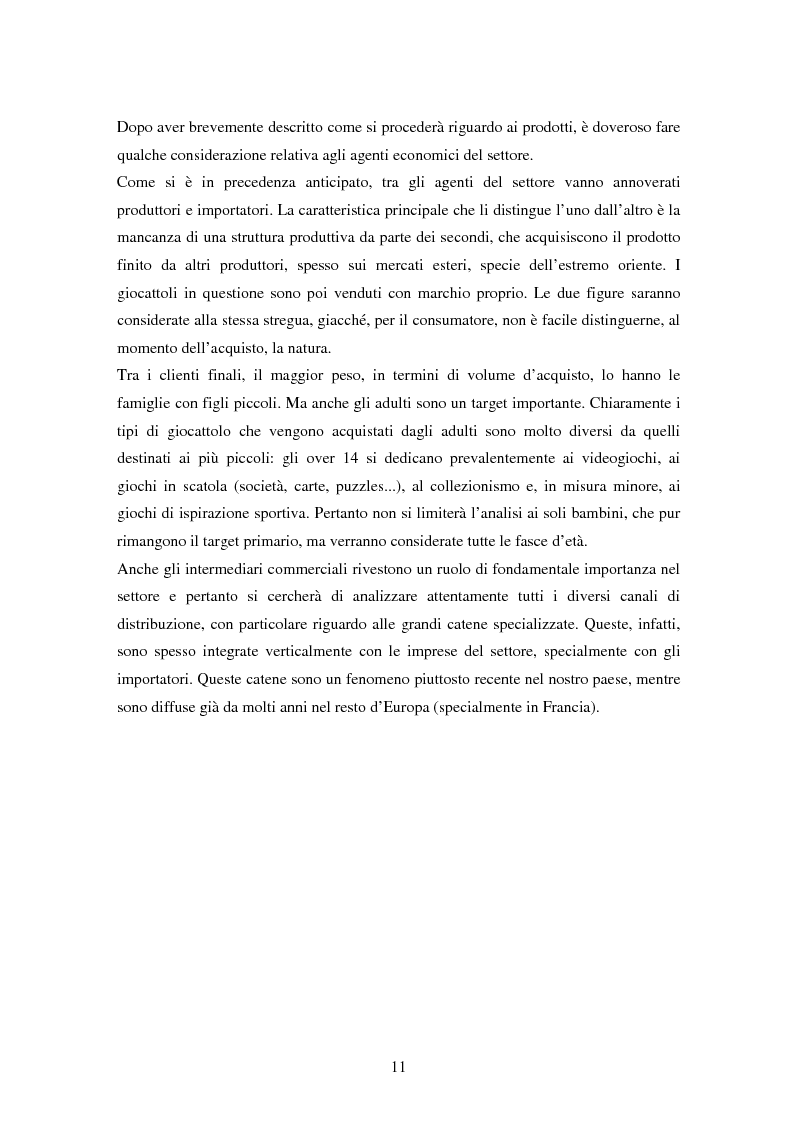 Anteprima della tesi: Il settore dei giocattoli, Pagina 11