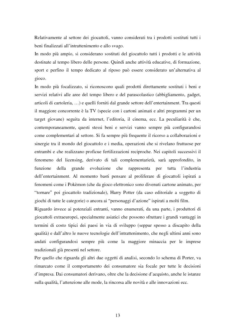 Anteprima della tesi: Il settore dei giocattoli, Pagina 13