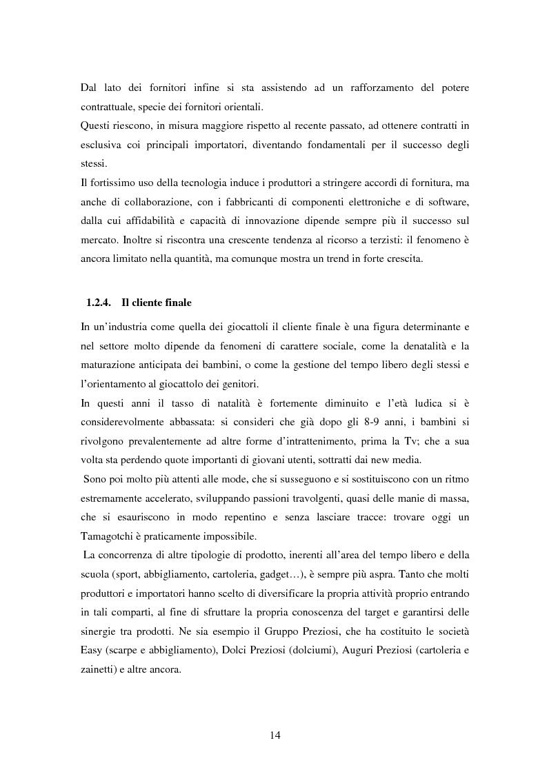 Anteprima della tesi: Il settore dei giocattoli, Pagina 14