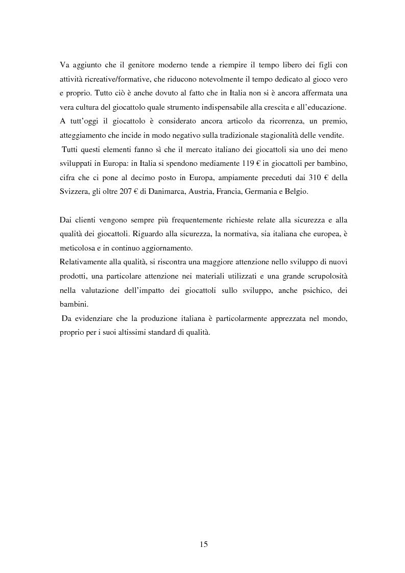 Anteprima della tesi: Il settore dei giocattoli, Pagina 15