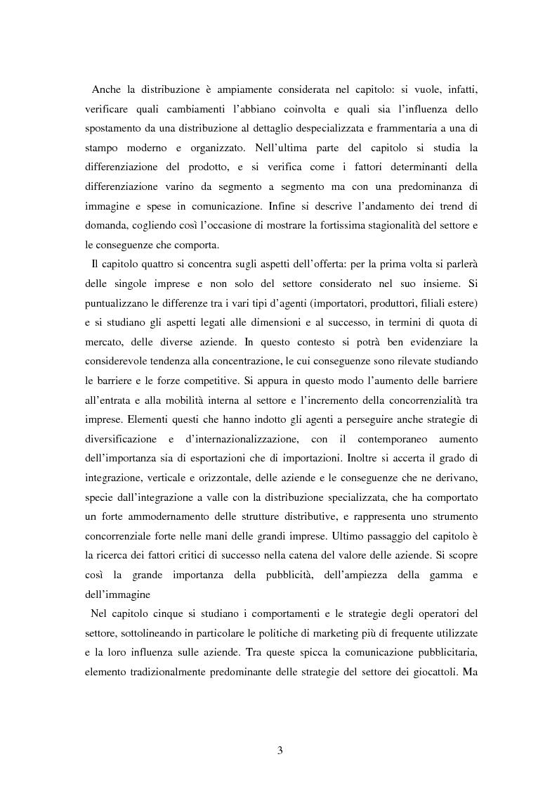 Anteprima della tesi: Il settore dei giocattoli, Pagina 3