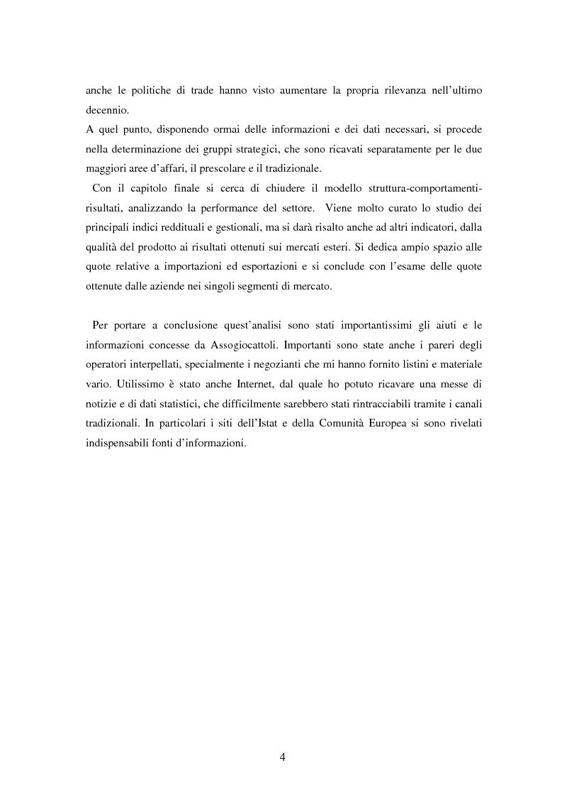 Anteprima della tesi: Il settore dei giocattoli, Pagina 4
