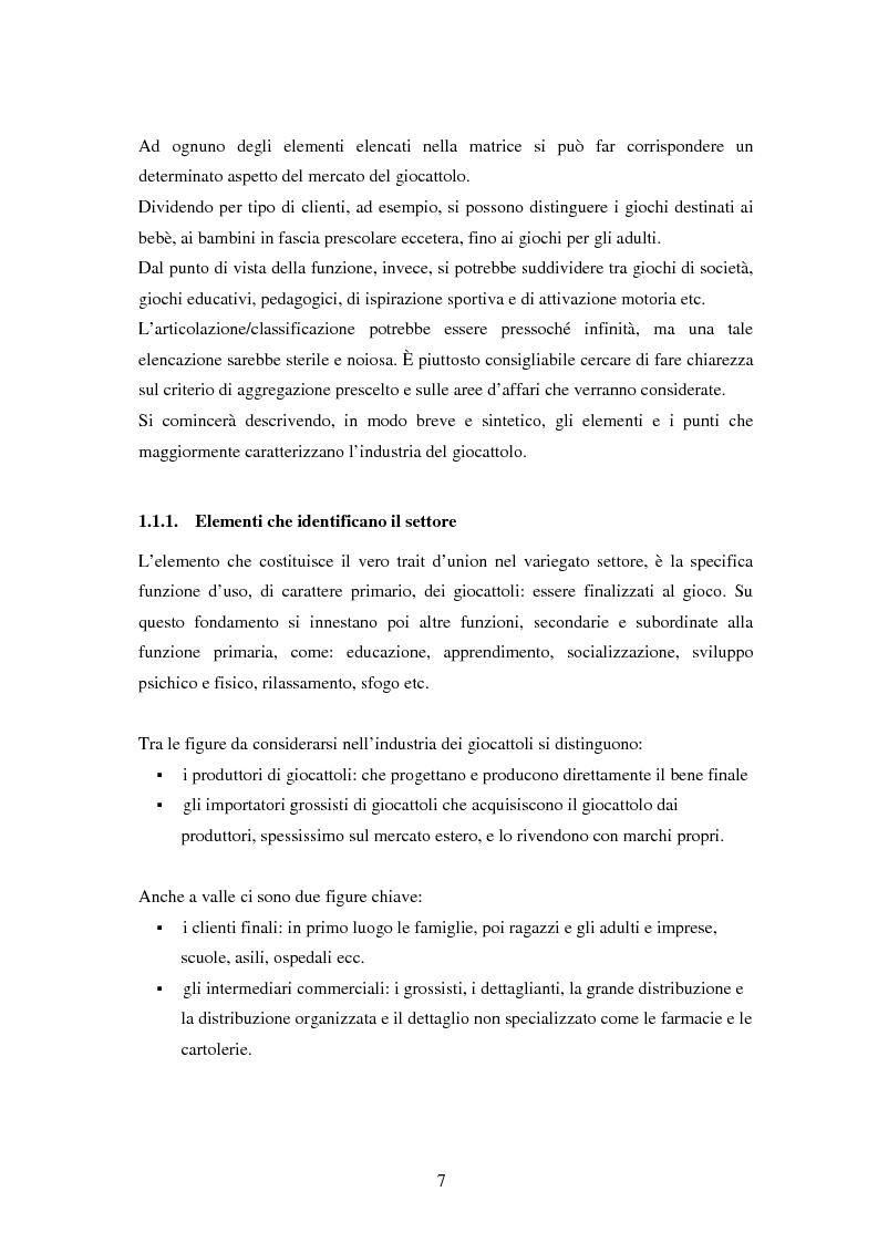 Anteprima della tesi: Il settore dei giocattoli, Pagina 7