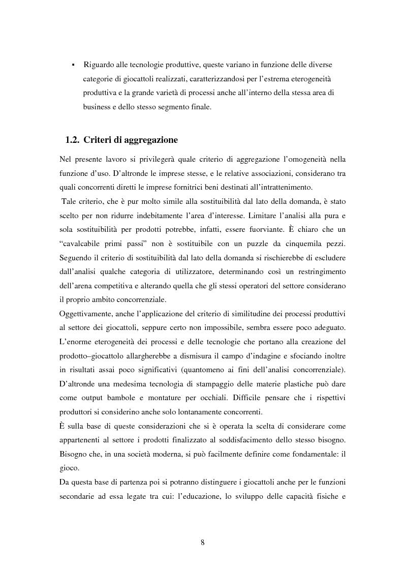 Anteprima della tesi: Il settore dei giocattoli, Pagina 8
