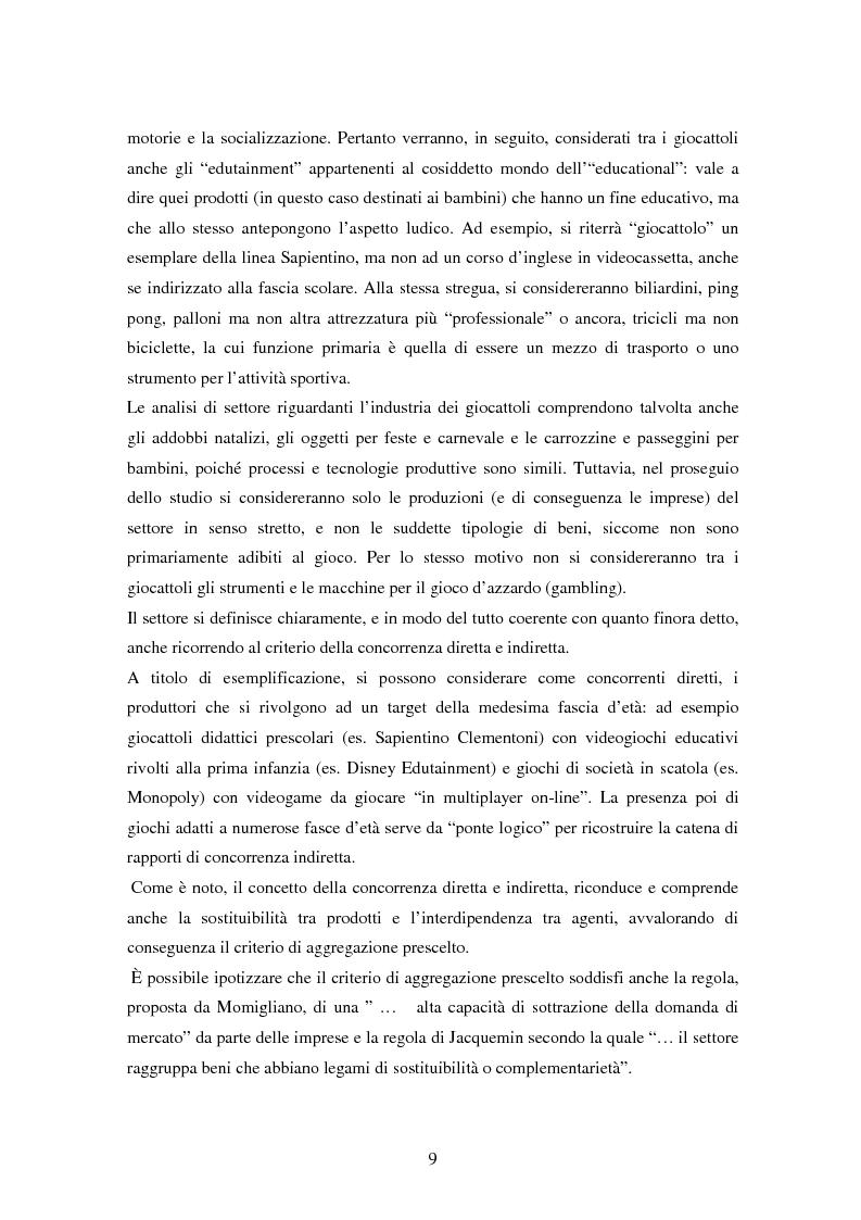 Anteprima della tesi: Il settore dei giocattoli, Pagina 9