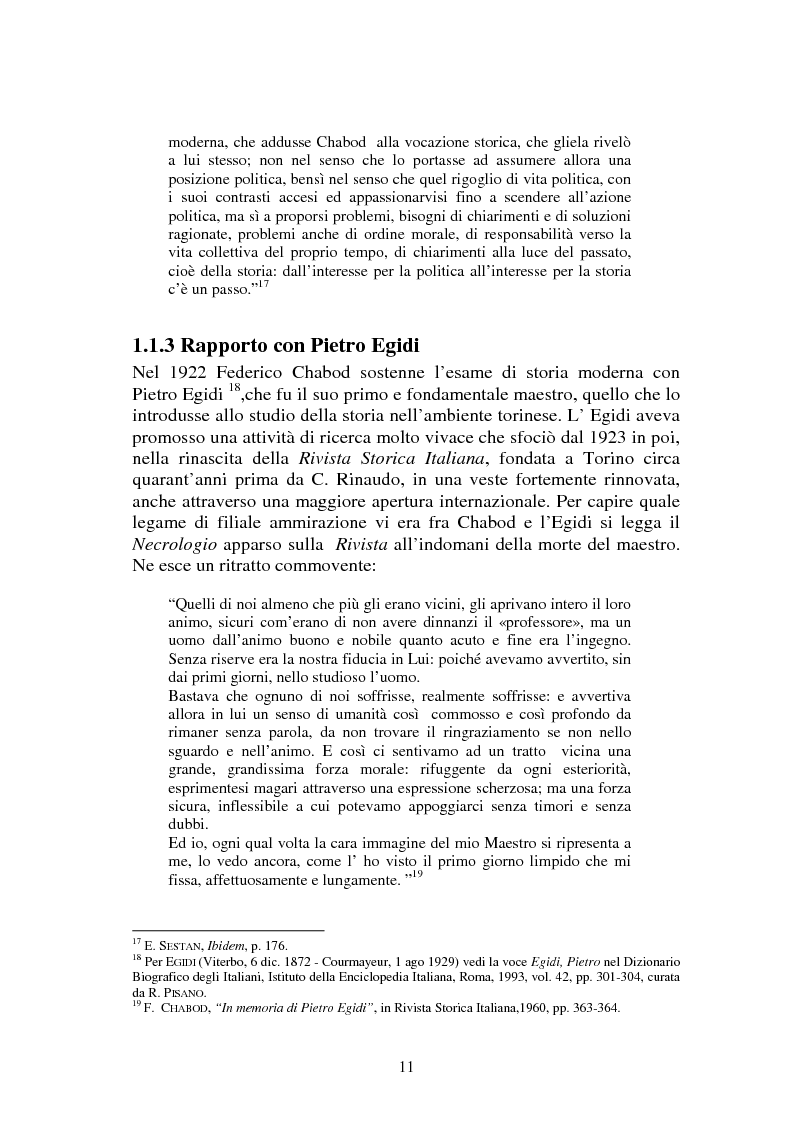 Anteprima della tesi: L'Italia contemporanea di Federico Chabod, Pagina 10