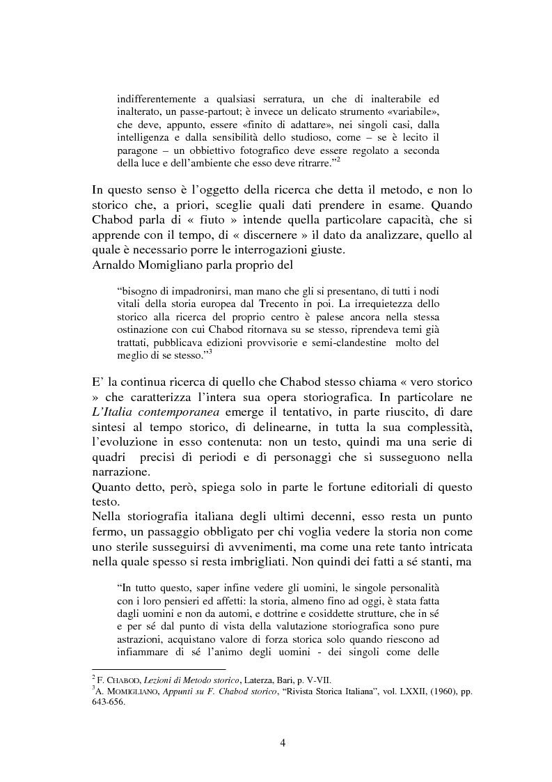 Anteprima della tesi: L'Italia contemporanea di Federico Chabod, Pagina 3