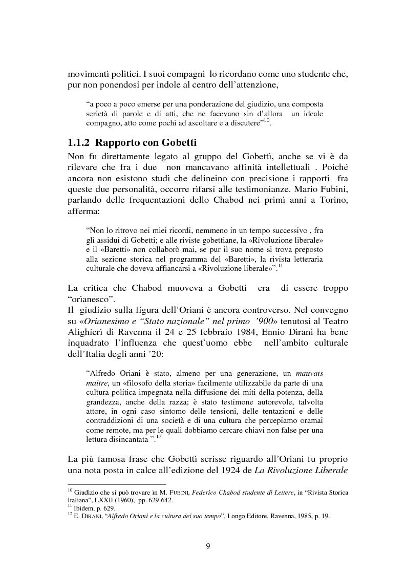 Anteprima della tesi: L'Italia contemporanea di Federico Chabod, Pagina 8