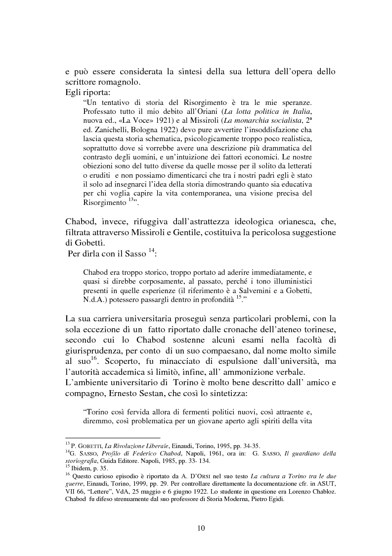 Anteprima della tesi: L'Italia contemporanea di Federico Chabod, Pagina 9
