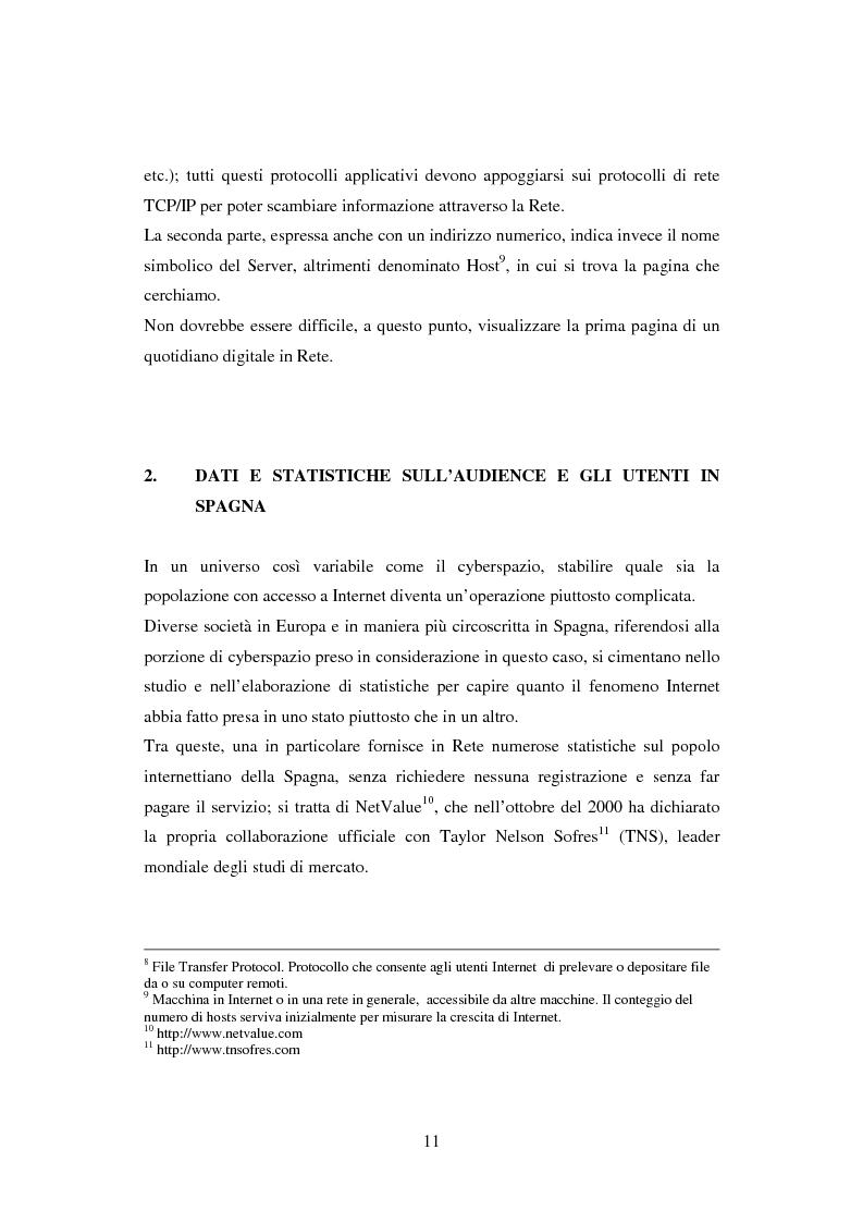 Anteprima della tesi: Quotidiani on-line in Spagna: analisi e confronti, Pagina 11